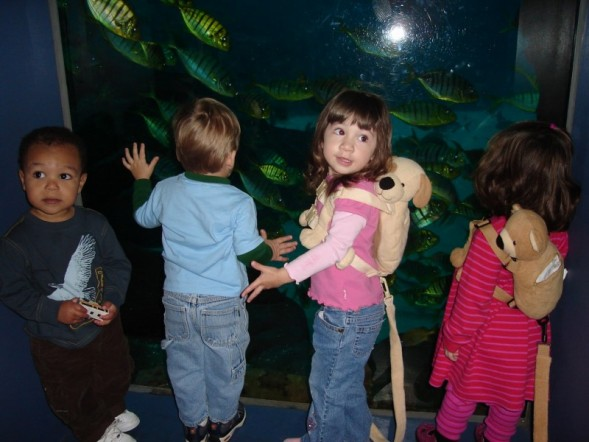 Kate at the aquarium